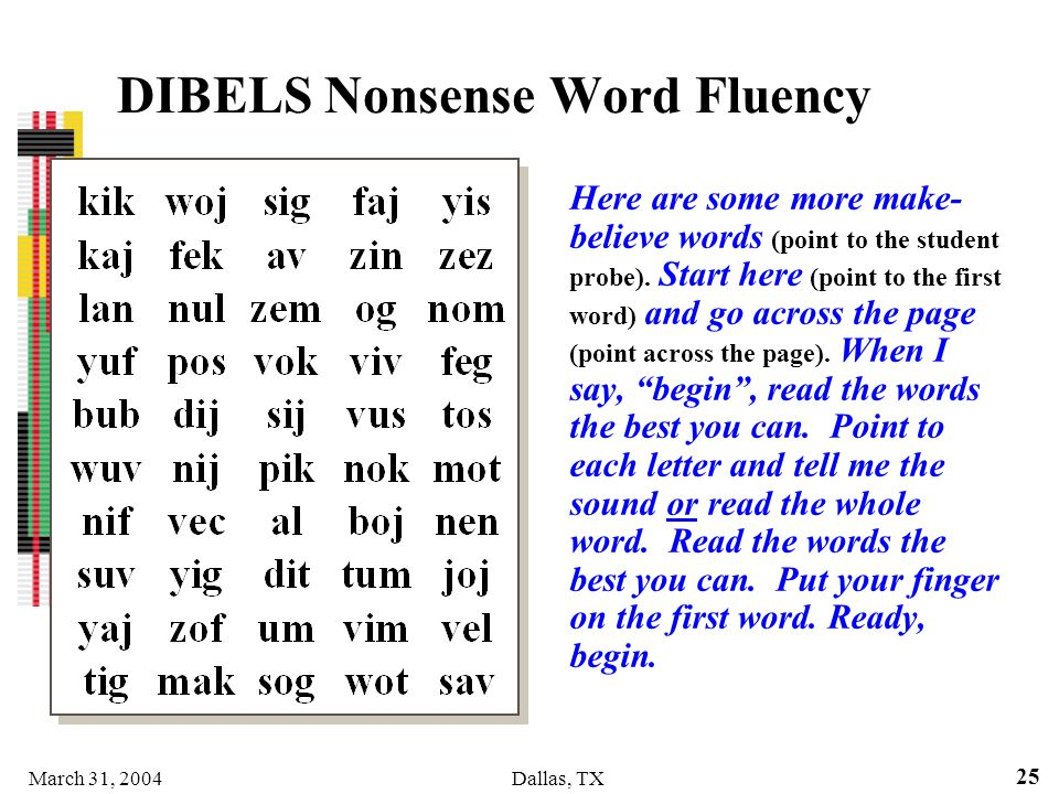 DIBELS Nonsense Word Fluency