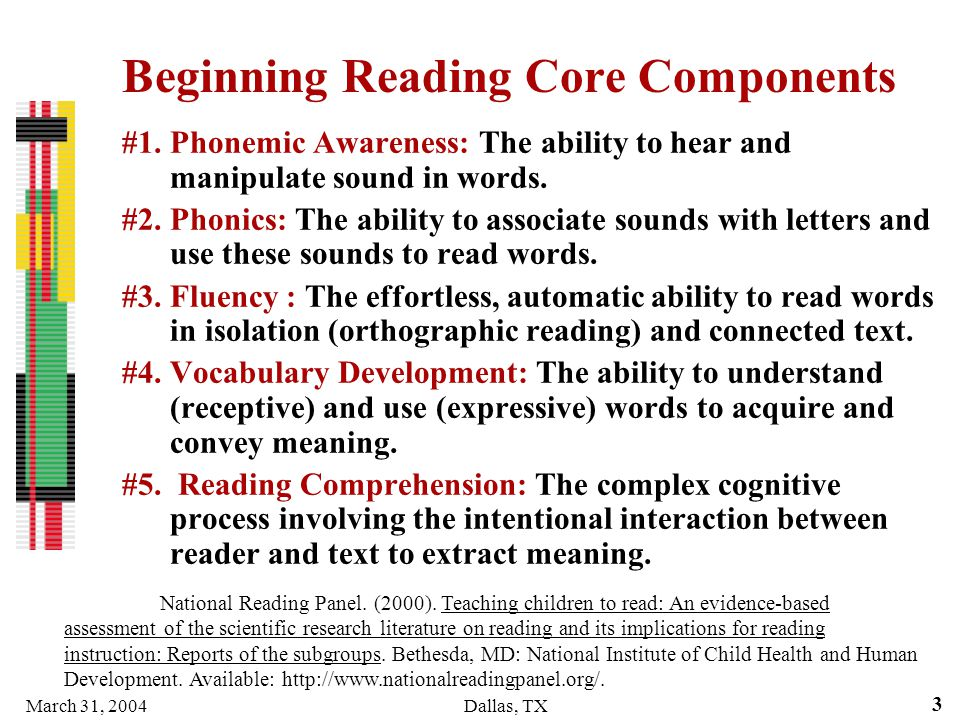 Beginning Reading Core Components