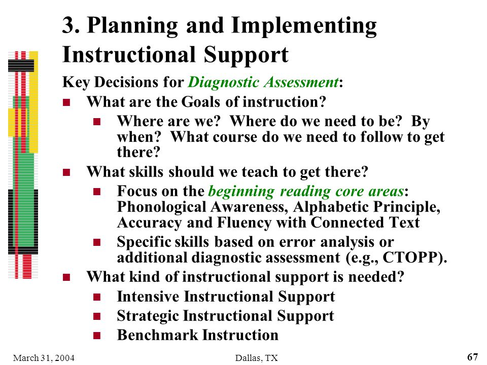 3. Planning and Implementing Instructional Support