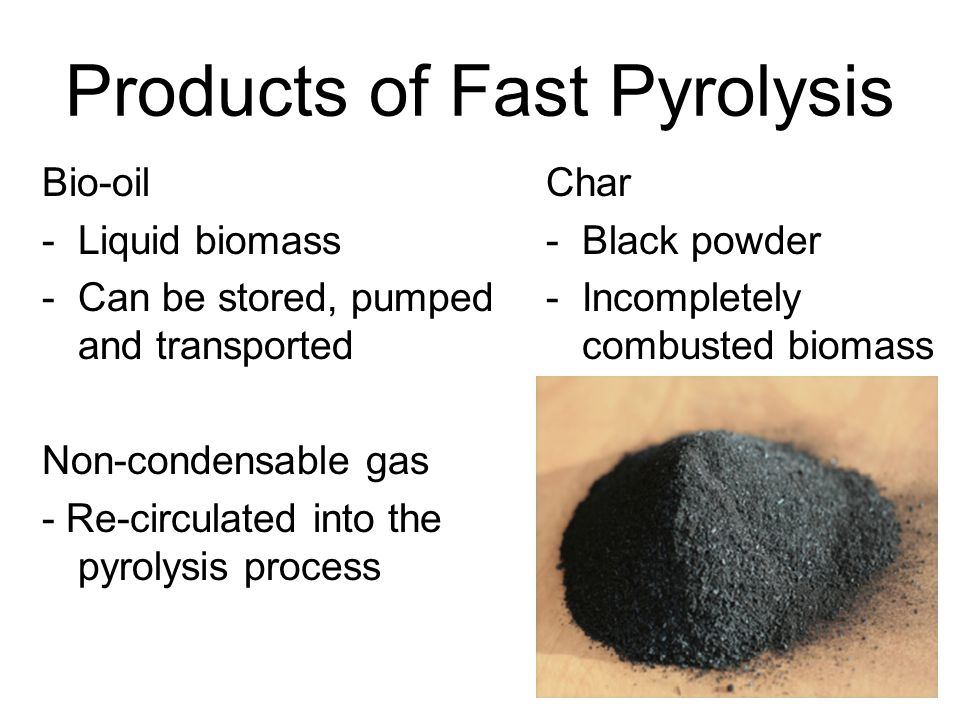 Products of Fast Pyrolysis