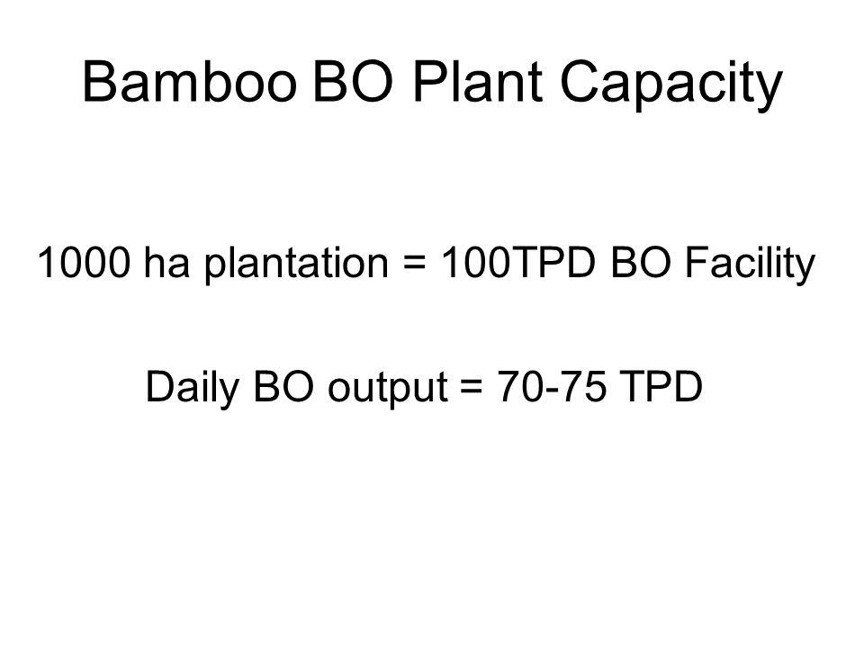 Bamboo BO Plant Capacity