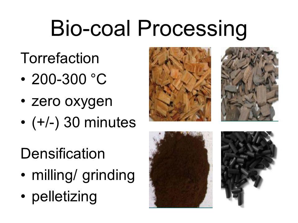 Bio-coal Processing Torrefaction 200-300 °C zero oxygen