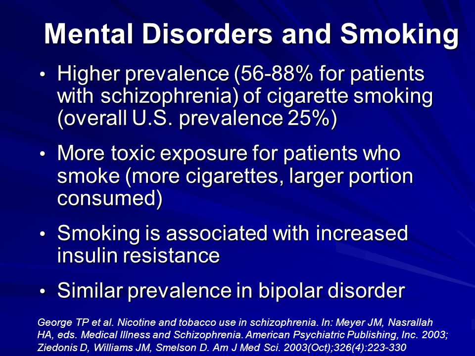 Mental Disorders and Smoking
