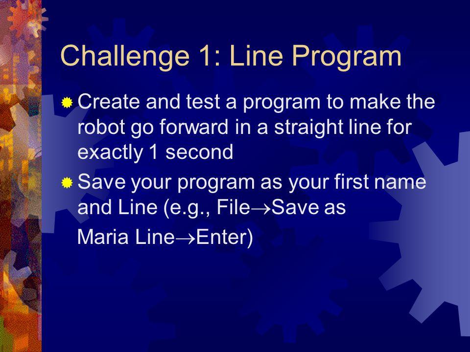 Challenge 1: Line Program