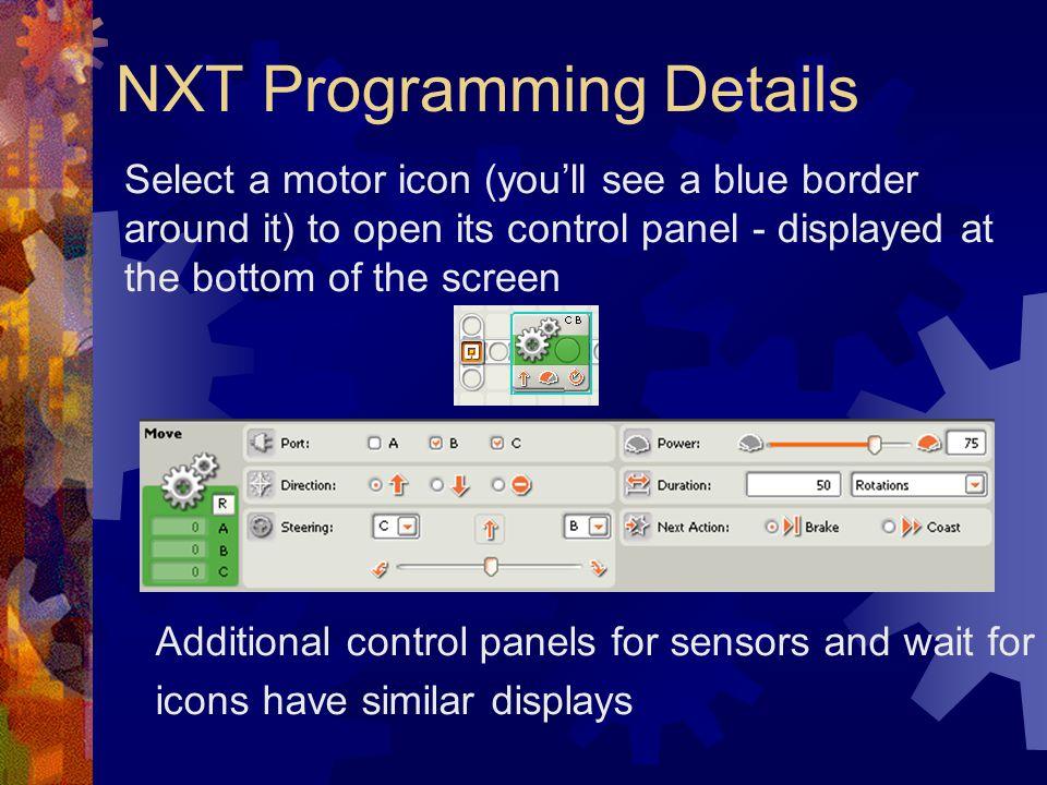 NXT Programming Details