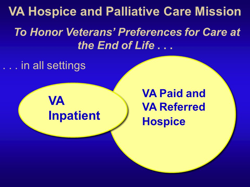 VA Hospice and Palliative Care Mission