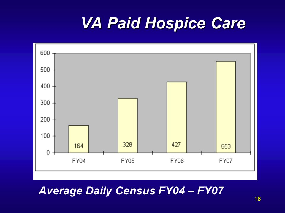 VA Paid Hospice Care Average Daily Census FY04 – FY07