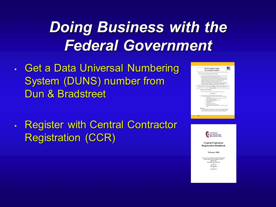 Doing Business with the Federal Government