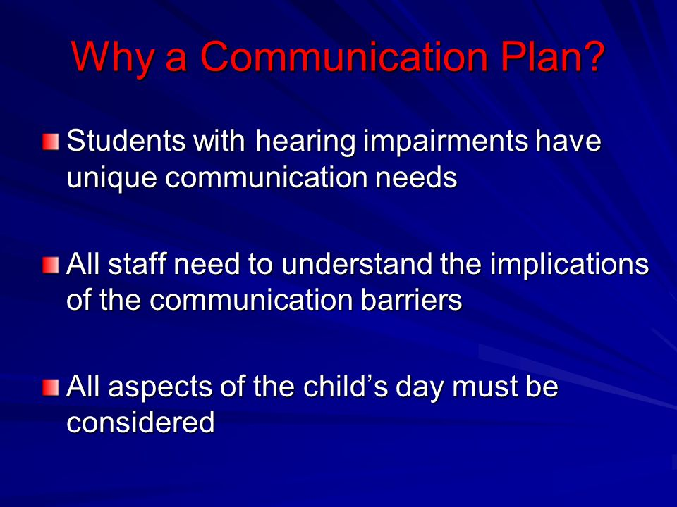 Why a Communication Plan