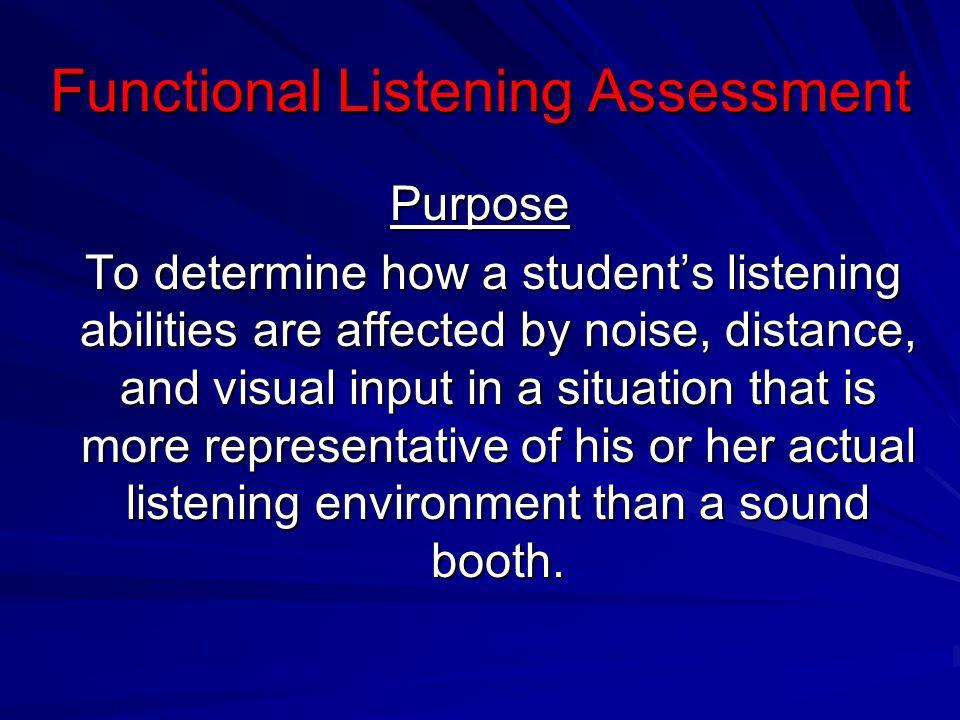 Functional Listening Assessment