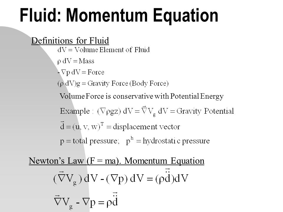 Fluid: Momentum Equation