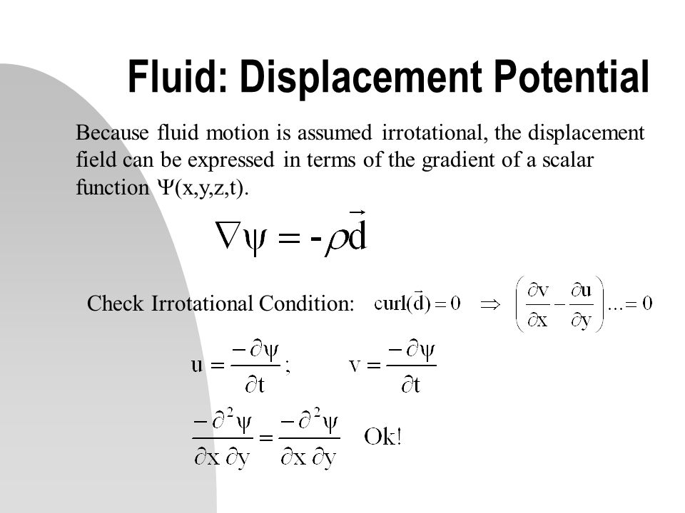 Fluid: Displacement Potential