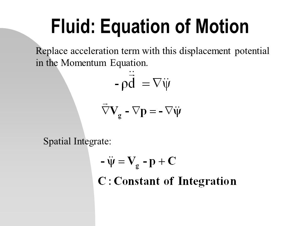 Fluid: Equation of Motion