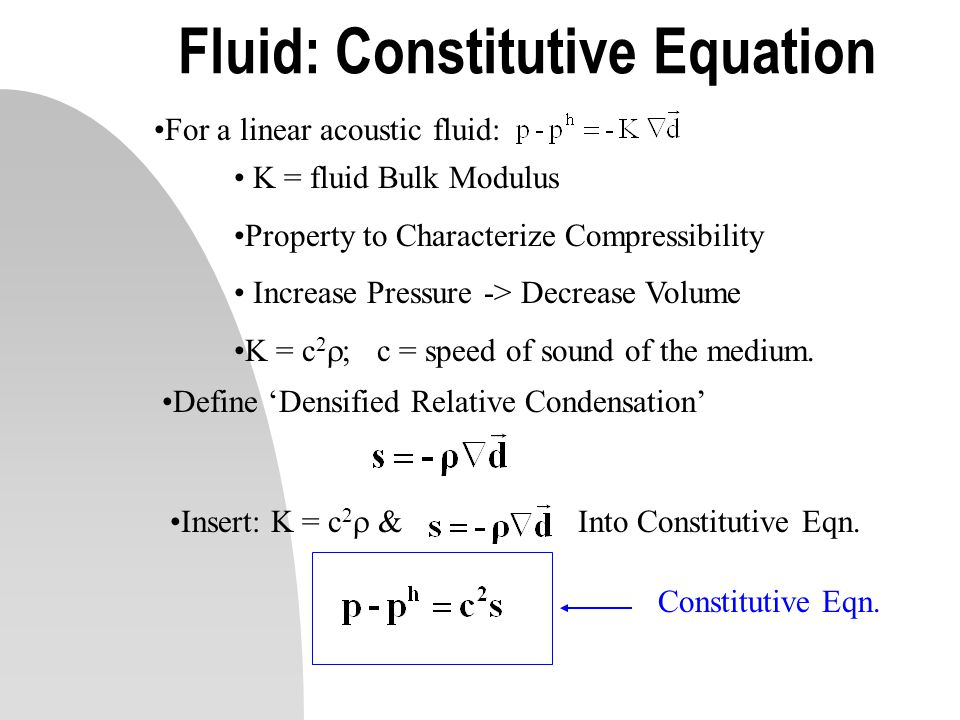 Fluid: Constitutive Equation