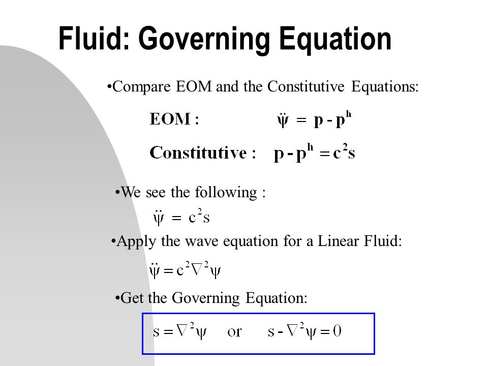 Fluid: Governing Equation