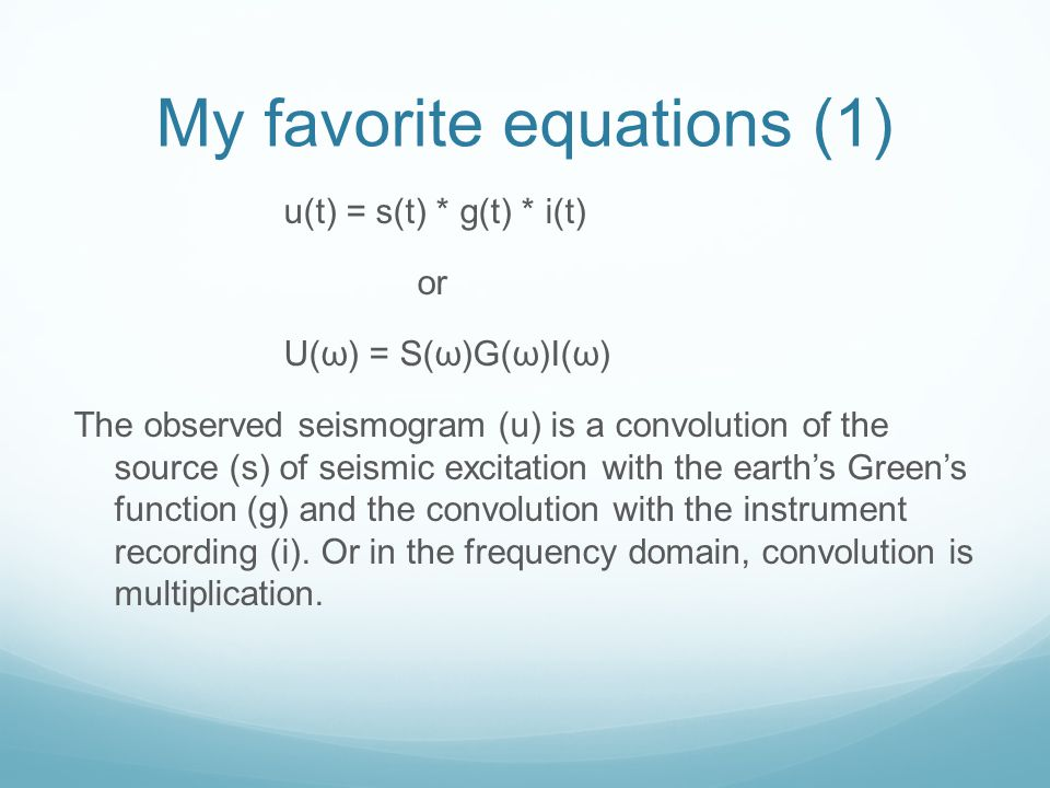 My favorite equations (1)