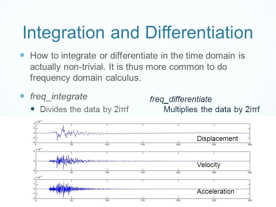 Integration and Differentiation