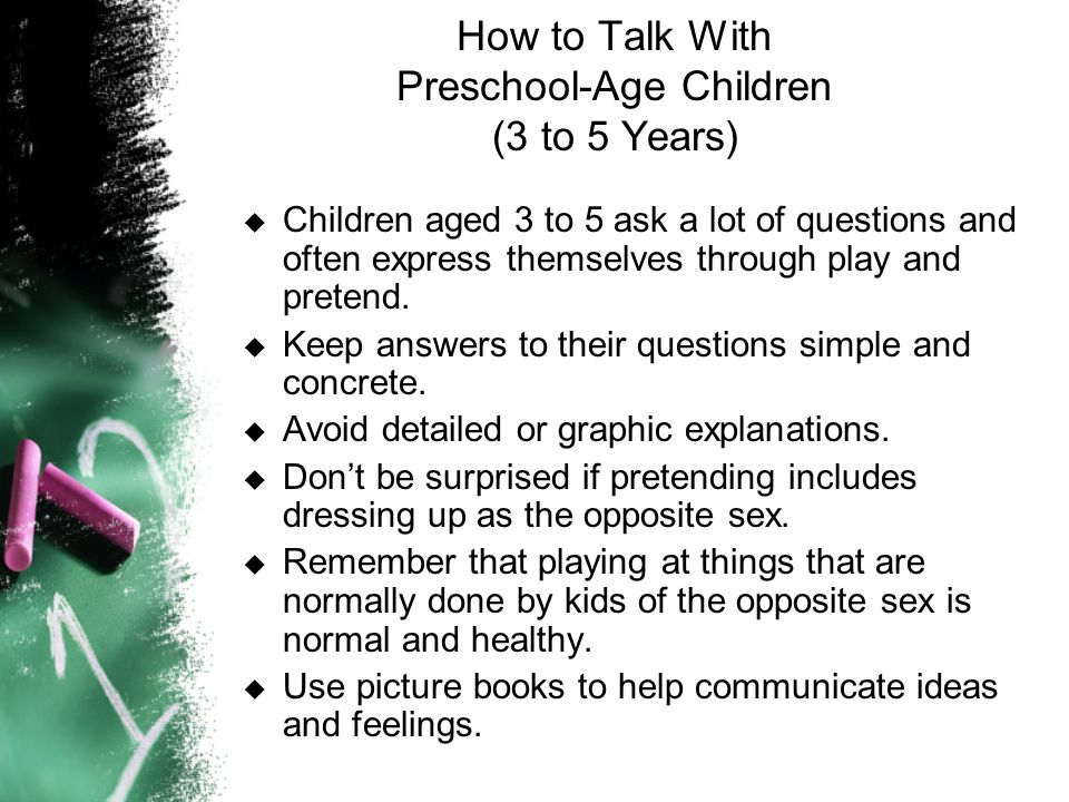 How to Talk With Preschool-Age Children (3 to 5 Years)