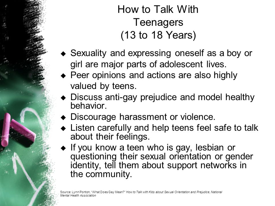How to Talk With Teenagers (13 to 18 Years)