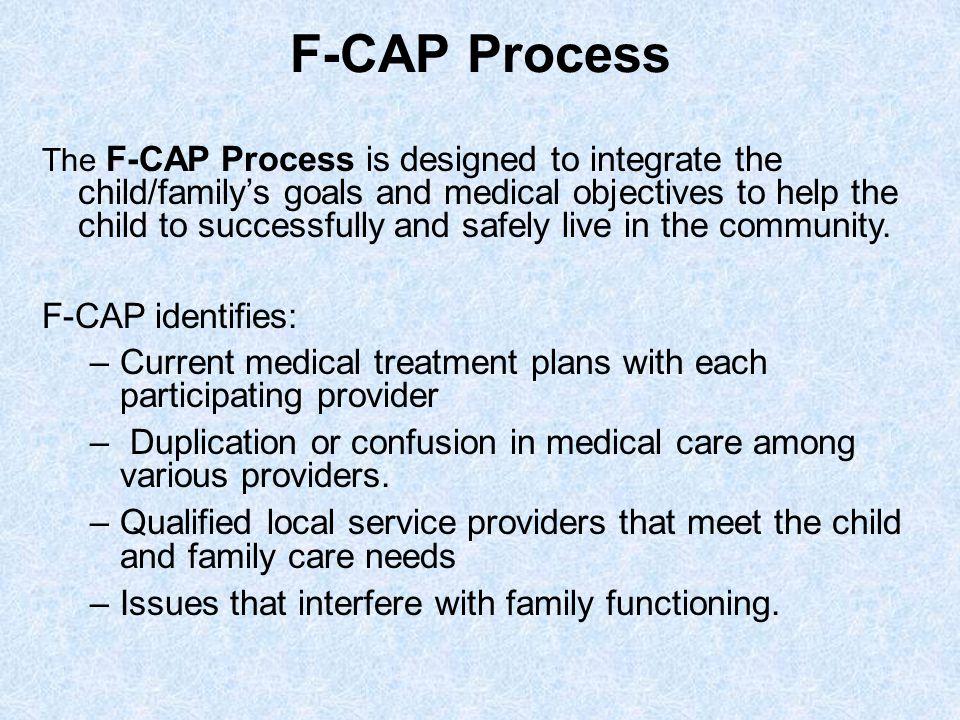 F-CAP Process F-CAP identifies: