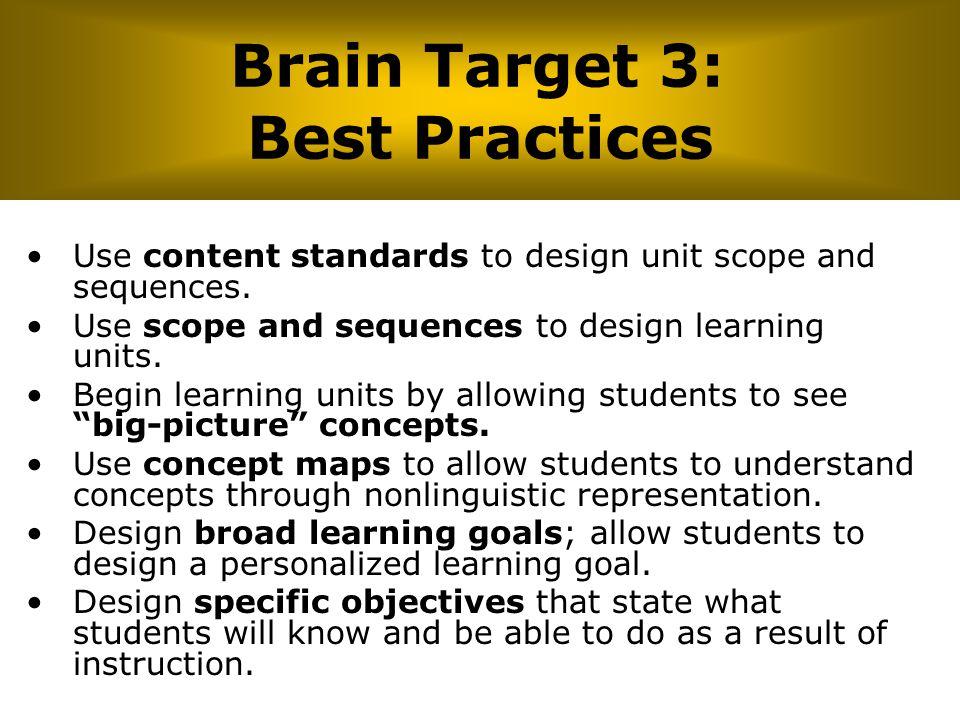 Brain Target 3: Best Practices