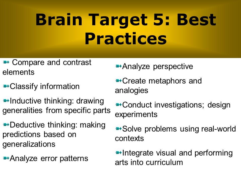 Brain Target 5: Best Practices
