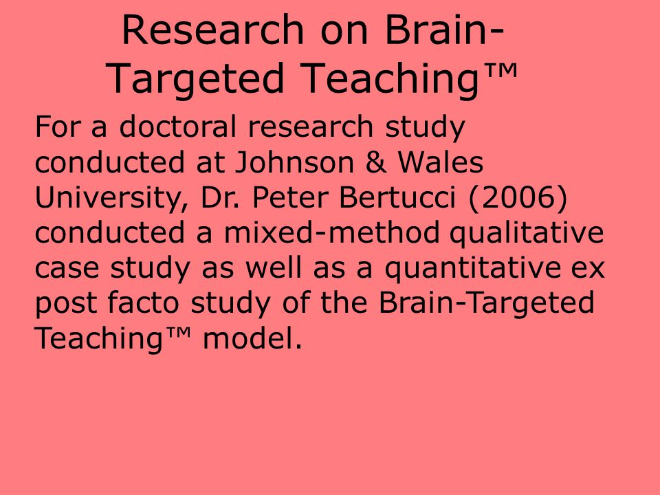 Research on Brain-Targeted Teaching™