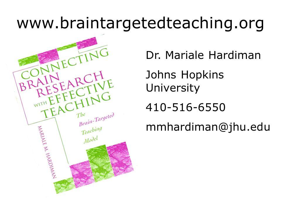 www.braintargetedteaching.org Dr. Mariale Hardiman