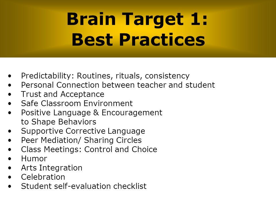 Brain Target 1: Best Practices