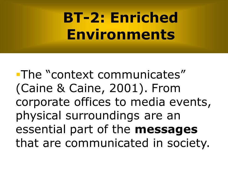 BT-2: Enriched Environments
