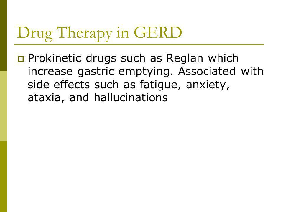 Drug Therapy in GERD