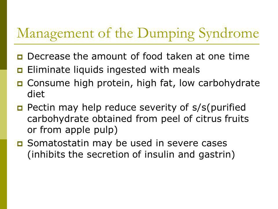 Management of the Dumping Syndrome