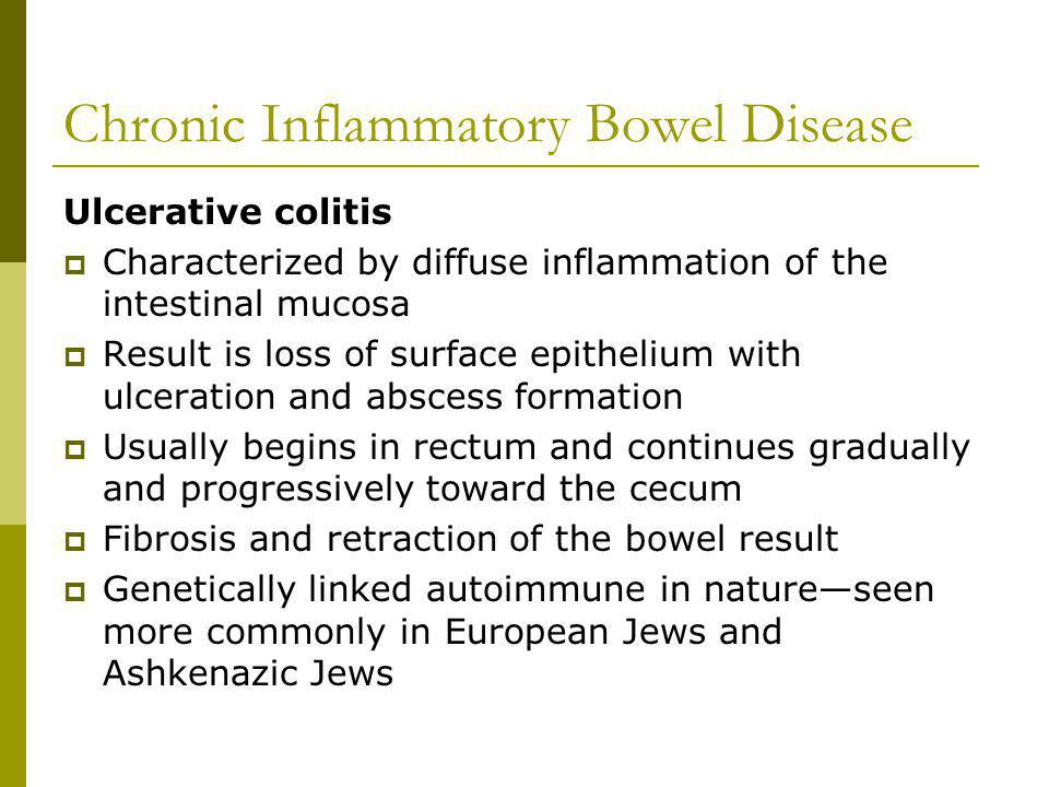Chronic Inflammatory Bowel Disease