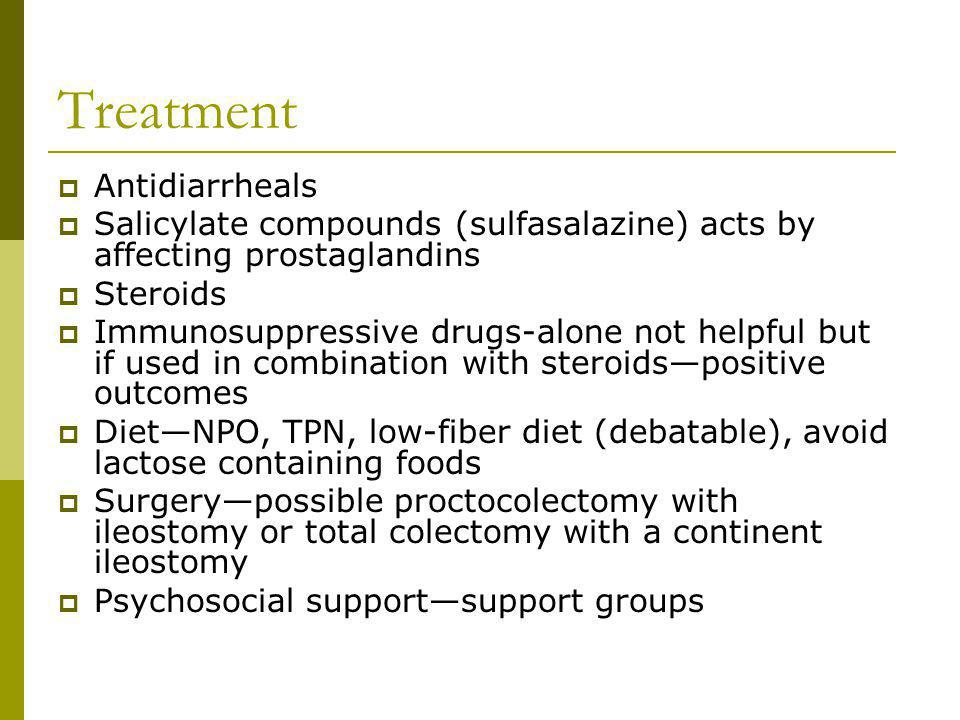 Treatment Antidiarrheals