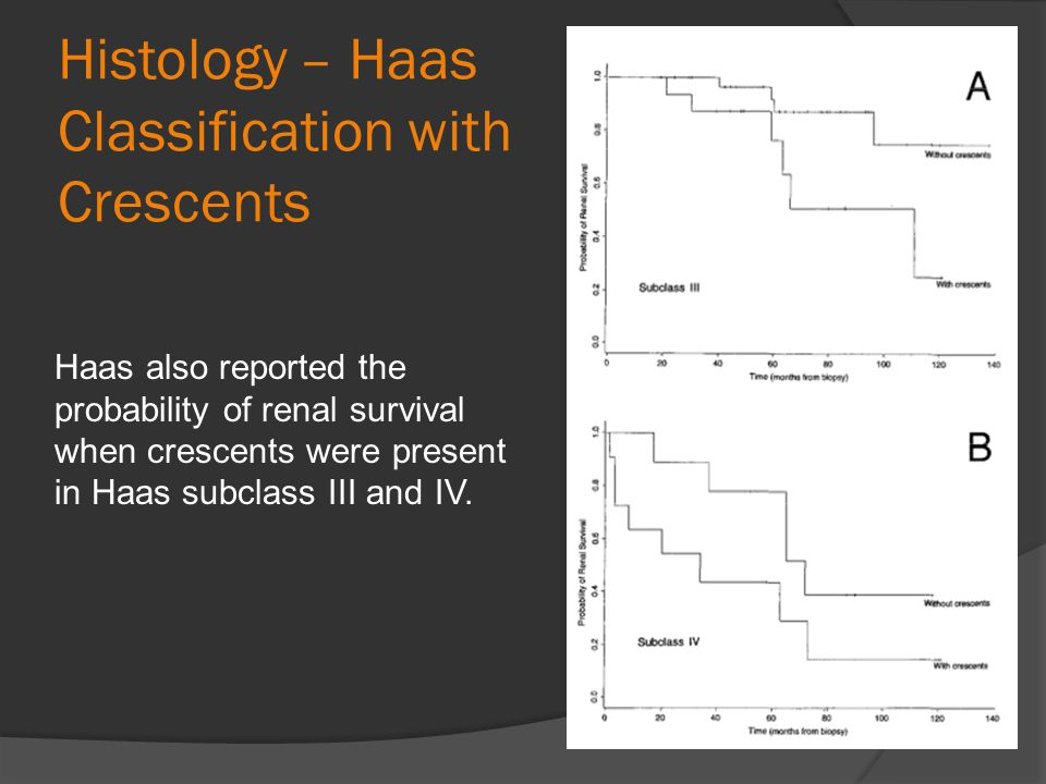 Histology – Haas Classification with Crescents