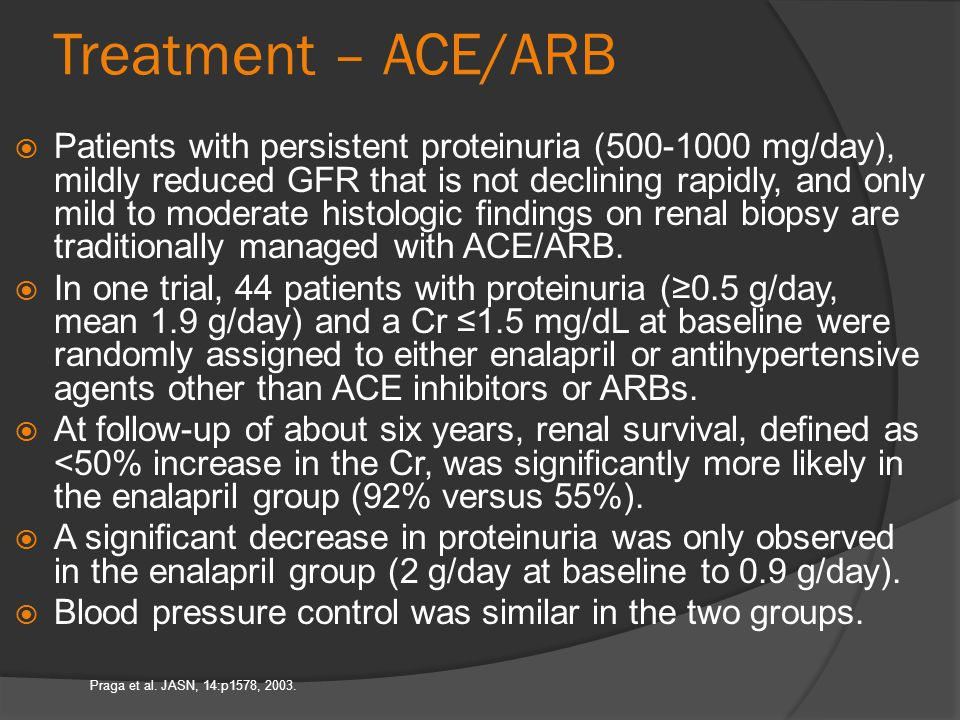 Treatment – ACE/ARB