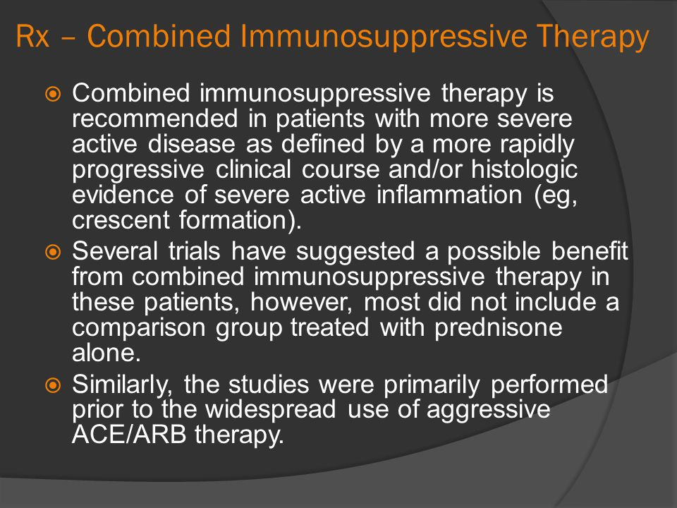 Rx – Combined Immunosuppressive Therapy