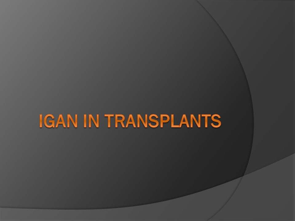 Igan in Transplants