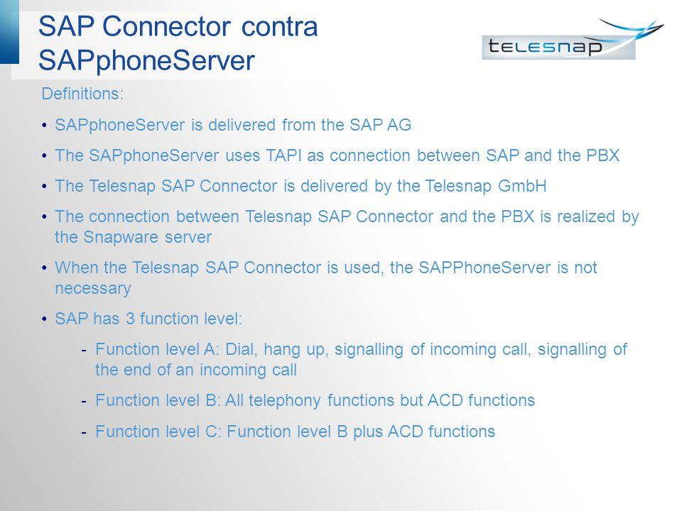 SAP Connector contra SAPphoneServer