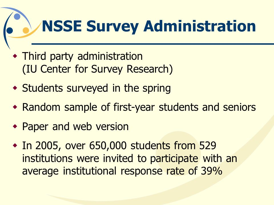 NSSE Survey Administration