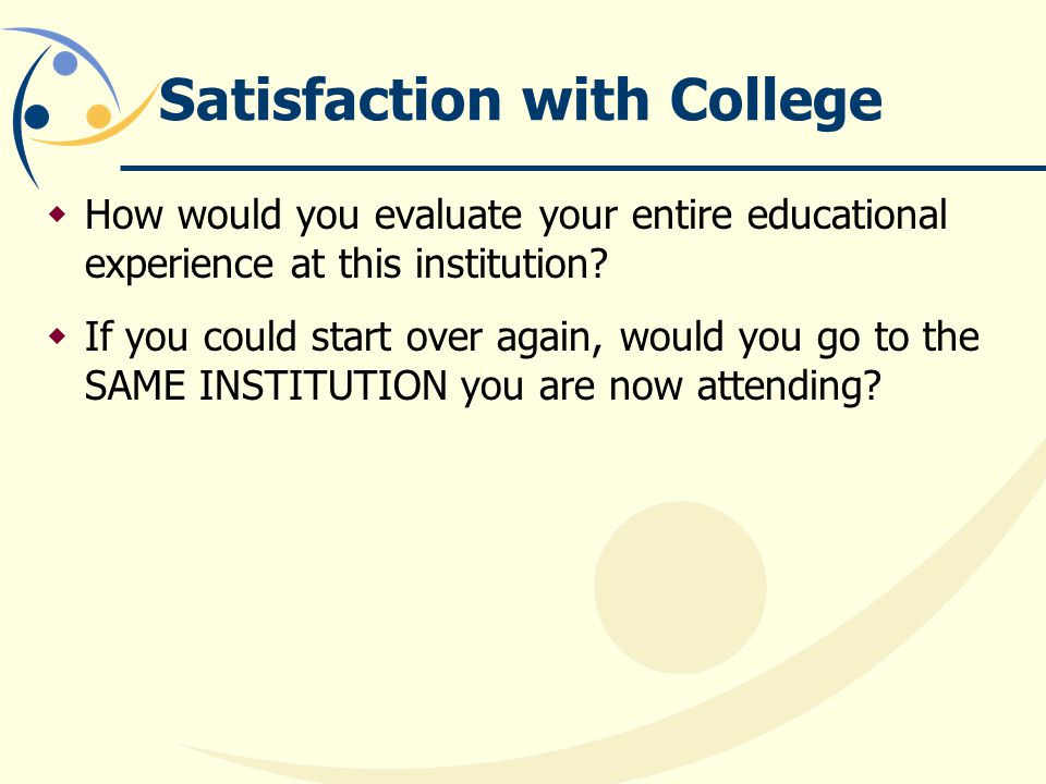 Satisfaction with College