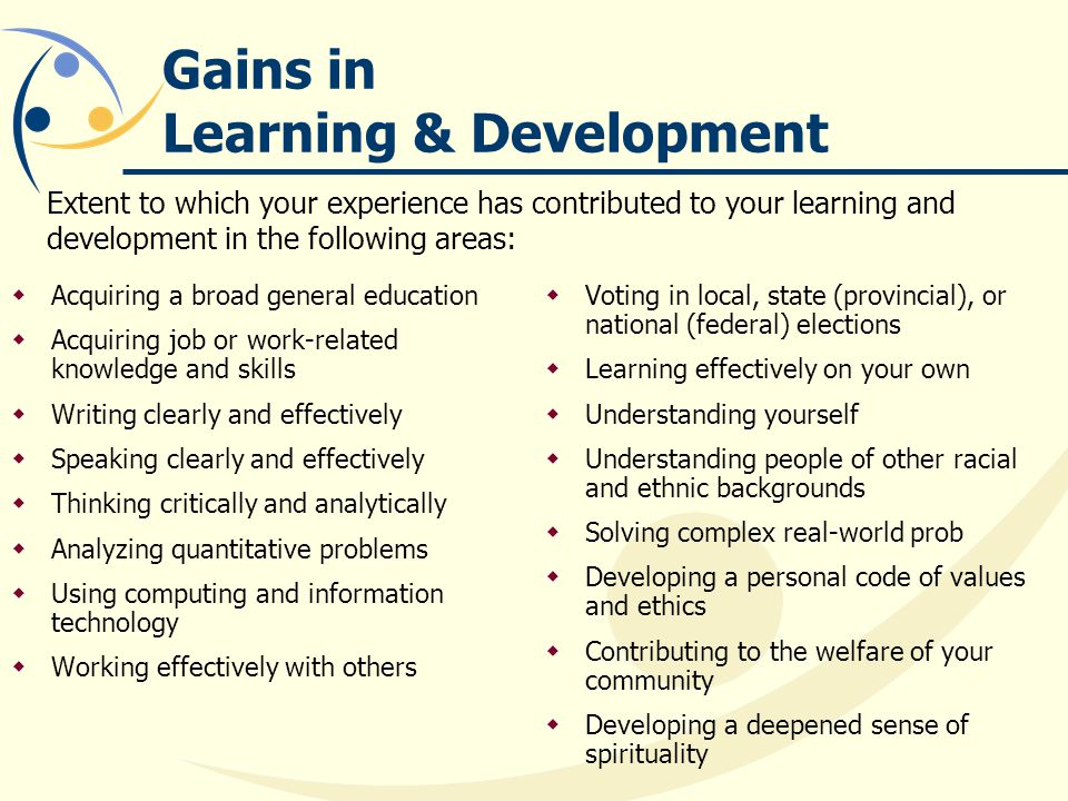 Gains in Learning & Development