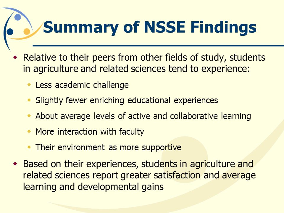 Summary of NSSE Findings