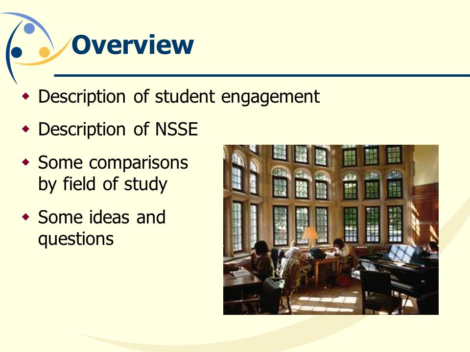 Overview Description of student engagement Description of NSSE