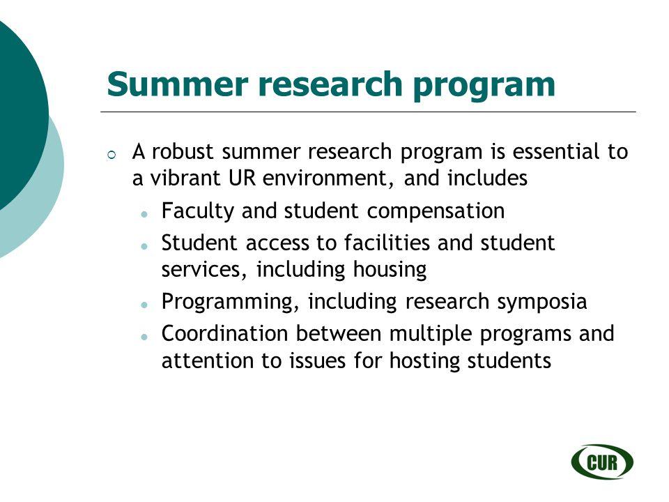 Summer research program