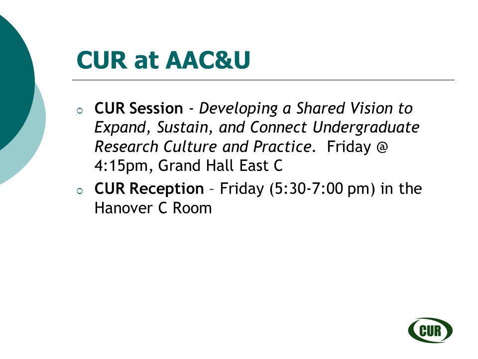 CUR at AAC&U