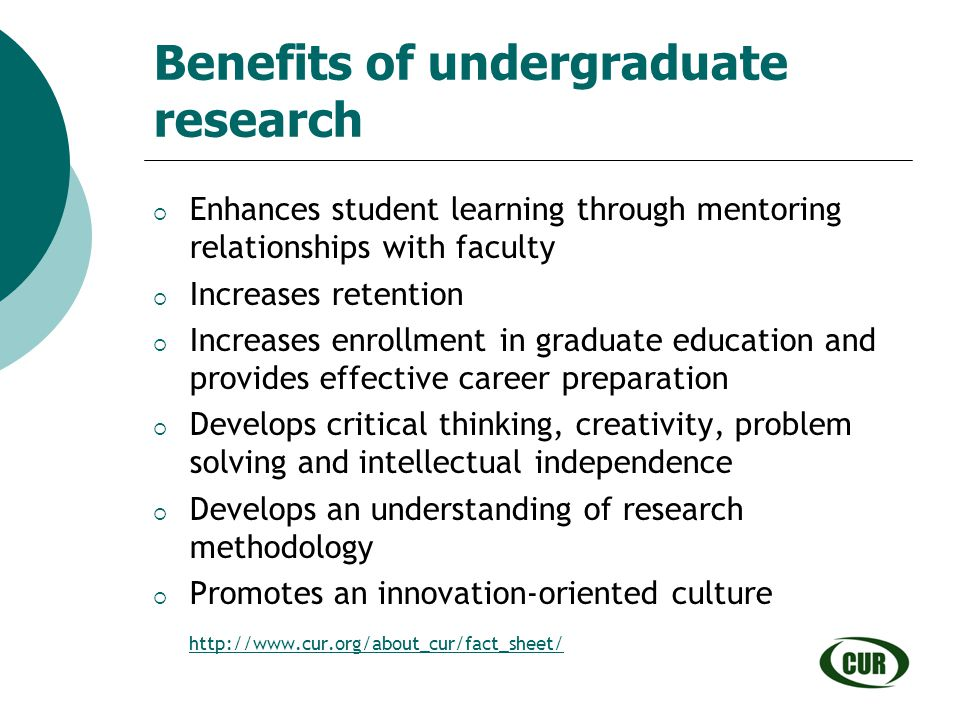 Benefits of undergraduate research