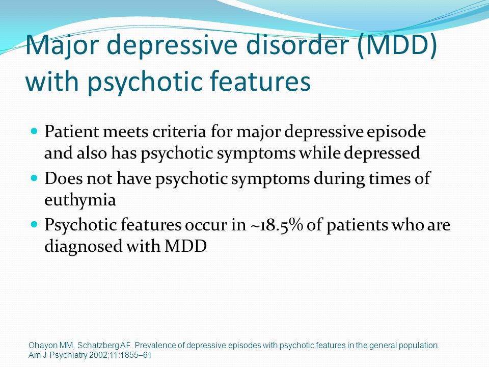 Major depressive disorder and patient essay