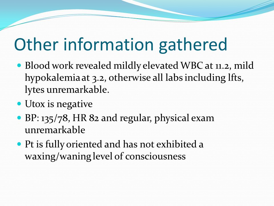 Other information gathered
