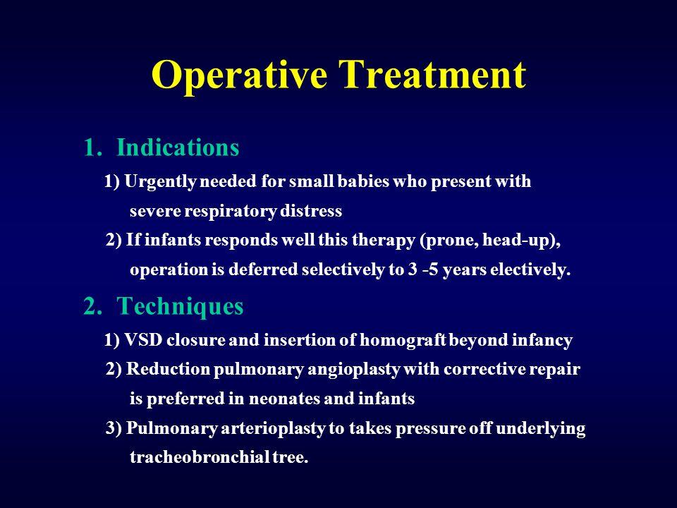 Operative Treatment 1. Indications 2. Techniques